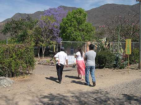 The entrance to the cactus garden is off the beaten track.