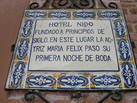 Maria Felix was THE big star of the Mexican Golden Age of Cinema.  She spent her wedding night in this hotel in Chapala.