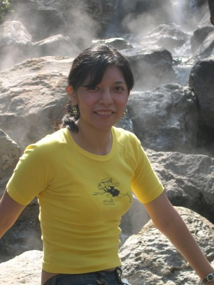 Tochi at the boiling waterfalls