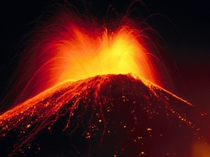 Erupting Pacaya Volcano, Guatemala.  From Index of Competent Wallpapers