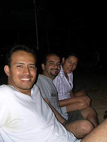 At night we sat on the beach...
