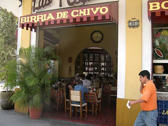 Like many businesses here, the restaurant is open to the street.