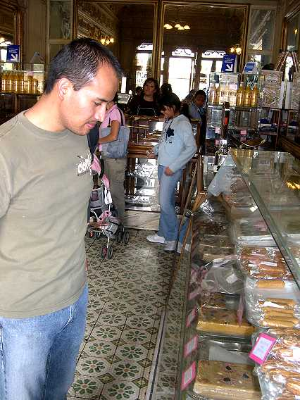 On our way to the microbus to go to the Villa, we stopped at our favorite candy store.