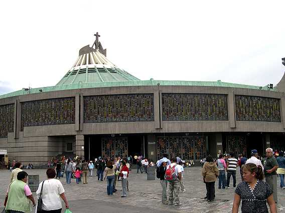 The Villa--the Basilica of the Virgin of Guadalupe.  It is located on a steep hill in the northern part of Mexico City.  It was here in the 1500's that the Virgin appeared to Don Juan Diego, a peasant who has recently become the church's first indgenous saint.