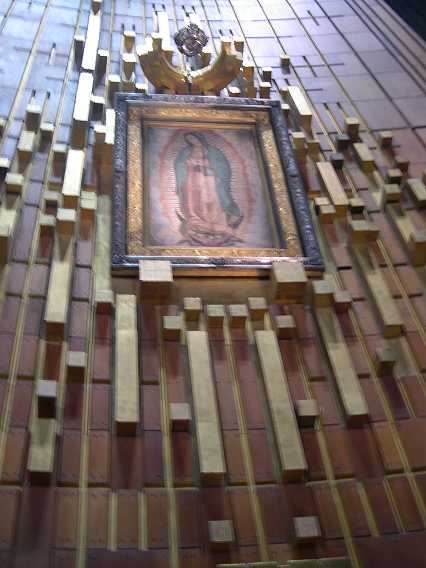 The Virgin of Guadalupe.  It is really inspiring to learn the story of her visits here.  We posted much more on the Virgin in 'Mexico in New York.'