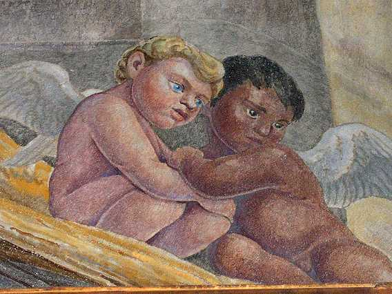 Here we are, as envisioned by Michelangelo. Miguel Angelo Sanchez. This is when I had hair.