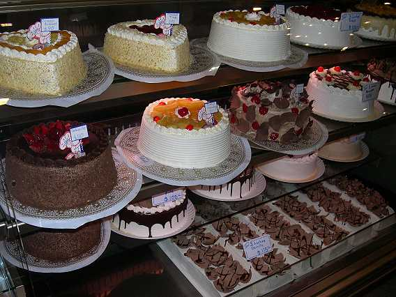 It is amazing to see such a large variety of cakes and pastries made with care and presented so beautifully.