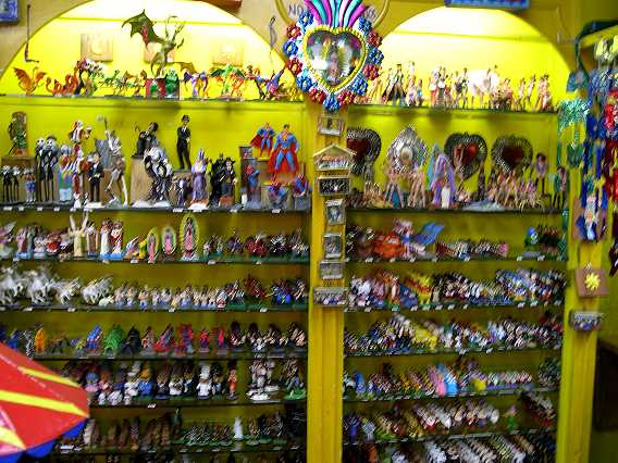 "The kind of store I dreamed of as a child. These are hand-painted lead figures. OK--be honest. Is this what you thought of when you first heard ""Mexico City?"""