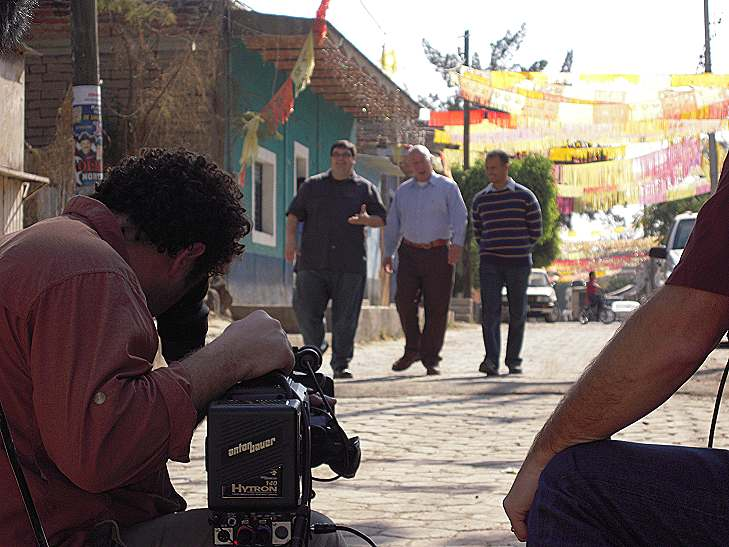Bobby, Dan, and Omar, shooting in Mexico for the History Channel