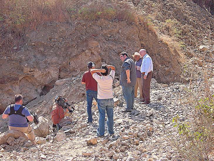 In the quarry, dug by hand over almost eight decades by Don Pedro.