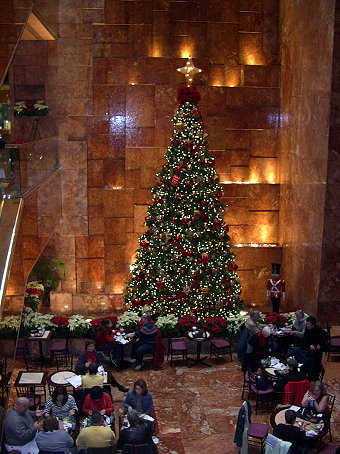 The tree in Trump Tower.