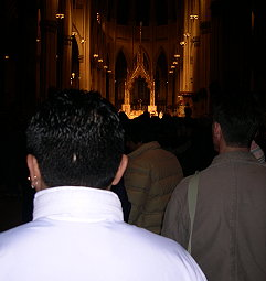 The cathedral was jam-packed.