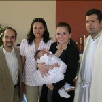 Ceci and Pablo with Teresita and the godparents--Pablo