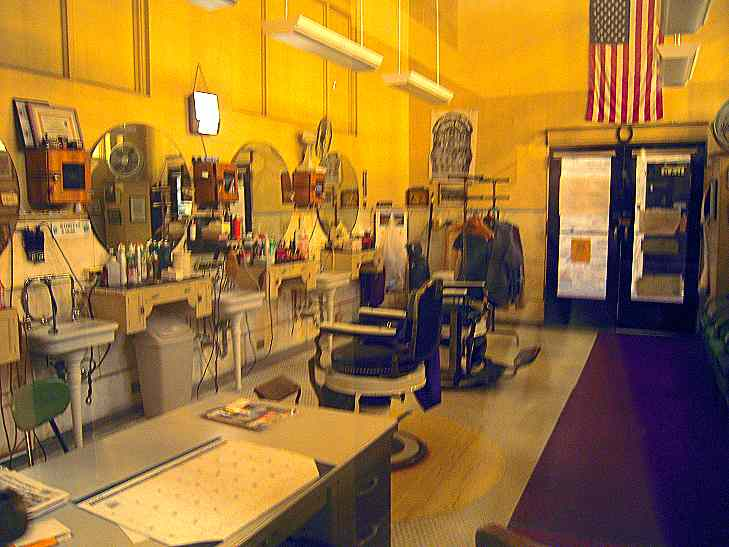 There's also a beautiful, old fashioned barber shop.