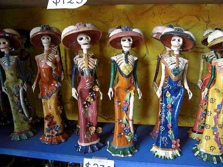 Smaller Katrinas, about a foot high.  Each is different.  A lot of work goes into these--and they sell for less than $20.
